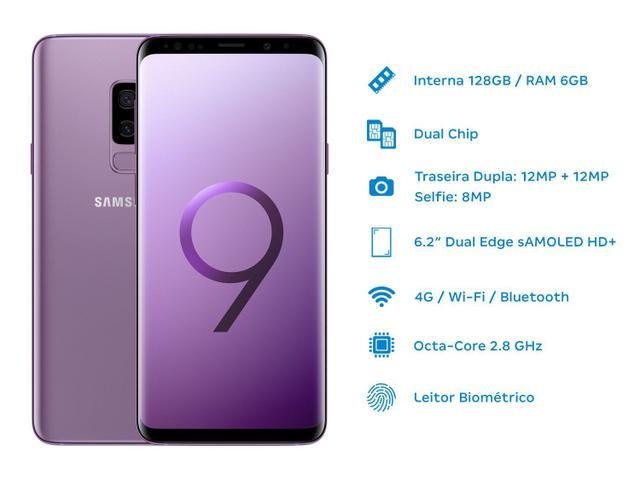 Imagem de Smartphone Samsung Galaxy S9+ 128GB Ultravioleta