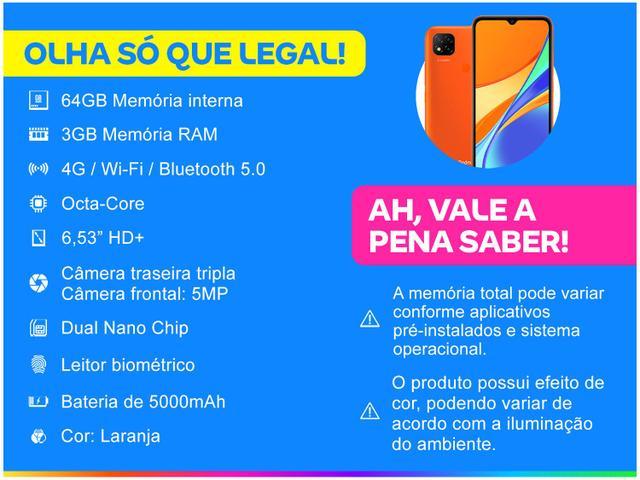 Imagem de Smartphone Xiaomi Redmi 9C 64GB Laranja 4G Octa
