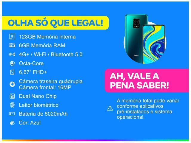 Imagem de Smartphone Xiaomi Redmi Note 9S 128GB Azul 4G+