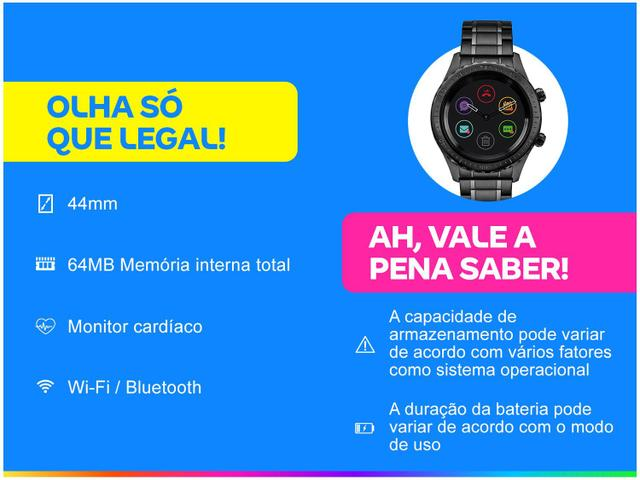 Imagem de Smartwatch Technos Connect P01AB/4P Preto