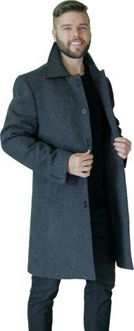 Imagem de sobretudo masculino de lã preto 54