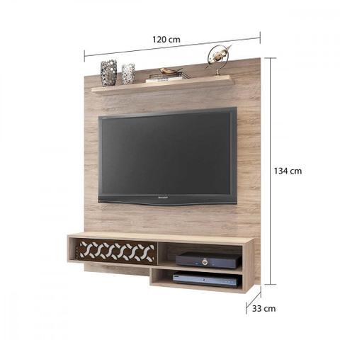 Imagem de Sofá 3 e 2 lugares + painel para TV de até 50 polegadas