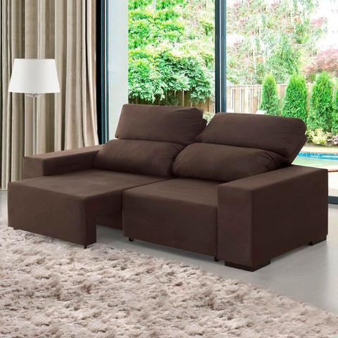 Imagem de Sofá 3 Lugares Retrátil e Reclinável Relax Chocolate