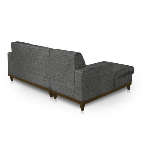 Imagem de Sofá 3 Lugares Roma com Chaise Direita Tecido Jacquard Premium