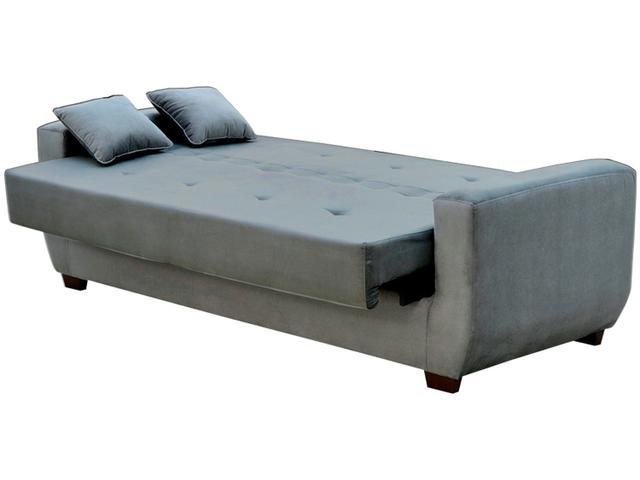 Imagem de Sofá-cama 4 Lugares Suede Reclinável