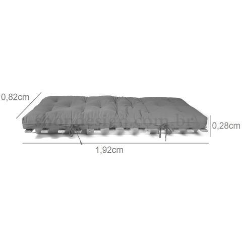 Imagem de Sofá Cama Futon Japonês Solteiro com Estrutura Preto