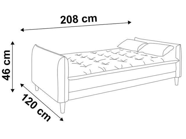 Imagem de Sofá-cama Suede Reclinável Linoforte