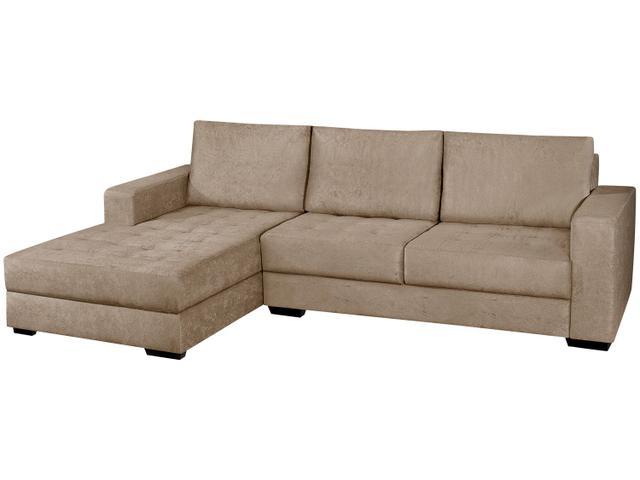 Imagem de Sofá Chaise 2 Lugares Suede Nápole