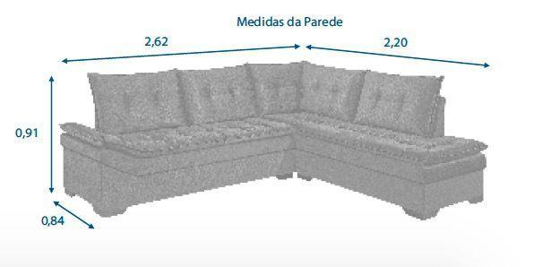 Imagem de Sofá de Canto Rondomóveis Ref 1090 - Carmuça Petróleo