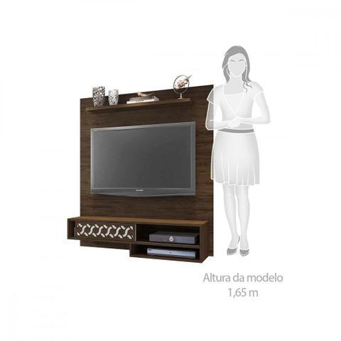 Imagem de Sofá retrátil e reclinável + painel home para TV de até 50 polegadas
