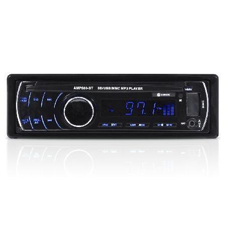 Imagem de Som automotivo auto rádio mp3 player usb/sd/fm/aux/bluetooth 4x45w com controle remoto amp800-bt
