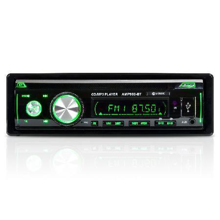 Imagem de Som automotivo auto rádio mp3 player usb/sd/fm/aux/bluetooth 4x45w com controle remoto amp900-bt Vin