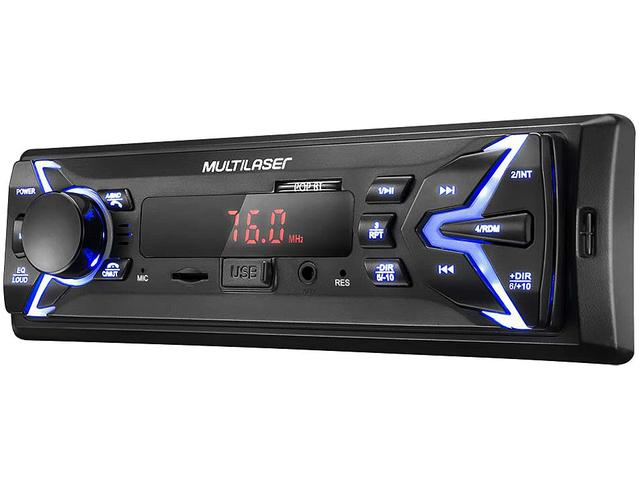 Imagem de Som Automotivo Multilaser Pop BT Bluetooth