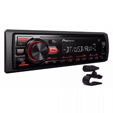 Imagem de Som Automotivo Pioneer MVH-298BT, Preto, Bluetooth, MP3, USB