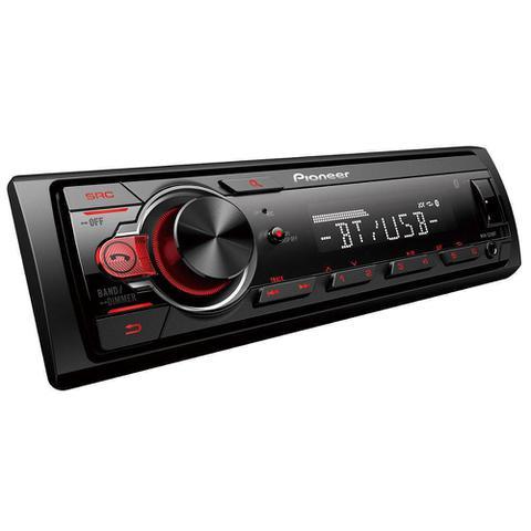 Imagem de Som Automotivo Pioneer MVH-S218BT, Auxiliar Frontal, Bluetooth, USB, Rádio AM/FM