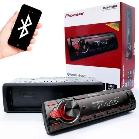 Imagem de Som Automotivo Pioneer, MVHS218BT, Preto, Bluetooth, USB Frontal, Aux, AM e FM