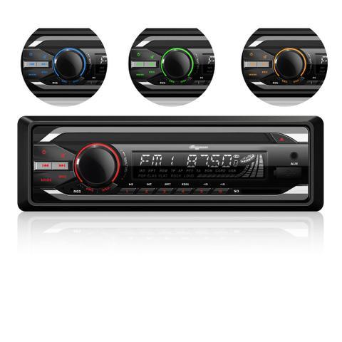 Imagem de Som Automotivo Quatro Rodas CD Player MTC6614, USB, Auxiliar, Cartão SD e 25Wx4