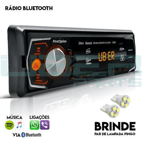 Imagem de Som Automotivo Radio Bluetooth Mp3 Player Usb Aux Sd Fm Controle