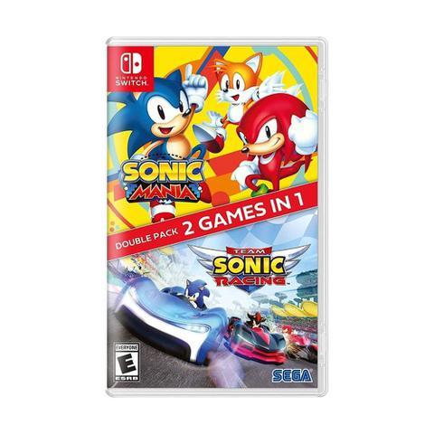 Jogo Sonic Team Racing + Mania - Double Pack - Switch - Sega
