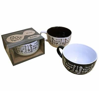 Imagem de Sopeira 450ml Ceramica Rio De Ouro Preta