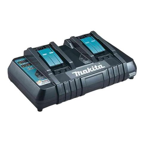 Imagem de Soprador dub361z-p 18+18v com 2 baterias 3ah e carregador duplo dc18rd 127v lxt makita