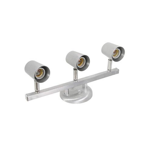 Imagem de Spot Trilho Direcionável para 3 Lâmpadas Versátil Dital Iluminação Aço Escovado