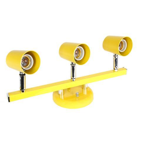 Imagem de Spot Trilho Direcionável para 3 Lâmpadas Versátil Dital Iluminação Amarelo