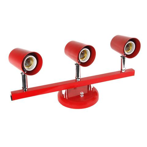 Imagem de Spot Trilho Direcionável para 3 Lâmpadas Versátil Dital Iluminação Vermelho