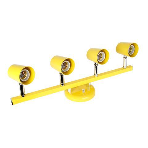Imagem de Spot Trilho Direcionável para 4 Lâmpadas Versátil Dital Iluminação Amarelo