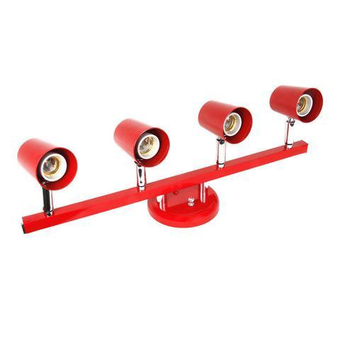 Imagem de Spot Trilho Direcionável para 4 Lâmpadas Versátil Dital Iluminação Vermelho