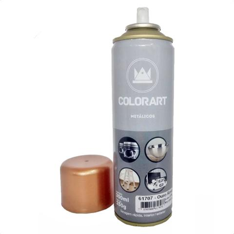 Imagem de Spray metalico ouro rose 300ml colorart