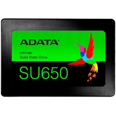 Imagem de SSD Adata SU650, 120GB, SATA, Leitura 520MB/s, Gravação 450MB/s - ASU650SS-120GT-R