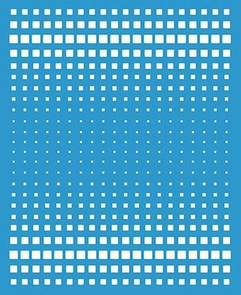Imagem de Stencil Especial Pintura Estampa Degradê Quadrados 21,1X17,2 STM-610 - Litoarte