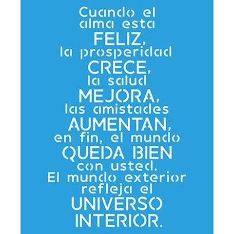 Imagem de Stencil Litoarte 21,1x17,2 STM-521 Cuando El Alma