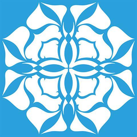 Imagem de Stencil Litoarte 30x30 STQG-004 Mandala Abstrato