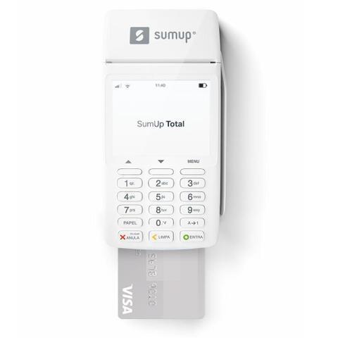 Imagem de SumUp Total Bobina A Maquininha De Cartão Sem Aluguel Wi-fi Chip 3G