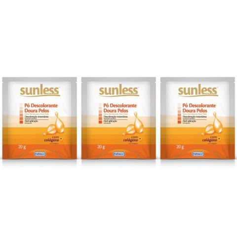 Imagem de Sunless Doura Pelos Pó Descolorante 20g (Kit C/03)