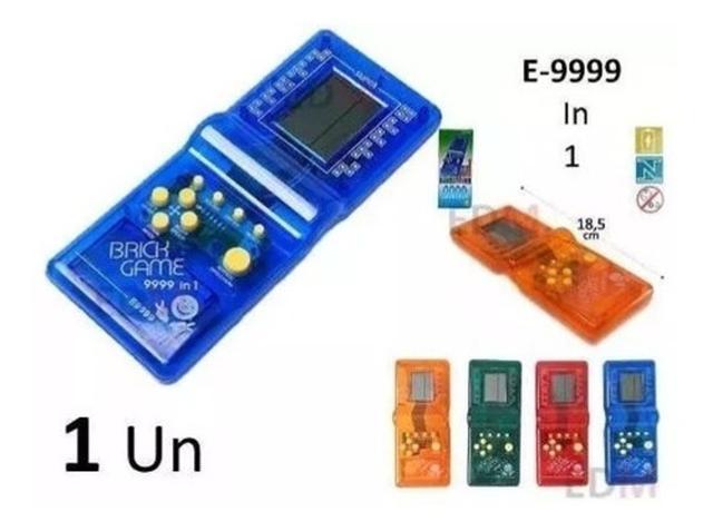 Imagem de Super Mini Game Portátil 9999 In 1 Brick Game Modelo Antigo
