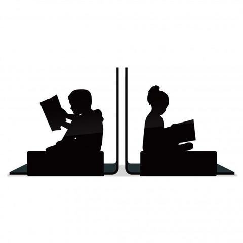 Imagem de Suporte Aparador De Livros Dvd Cd Crianças Lendo