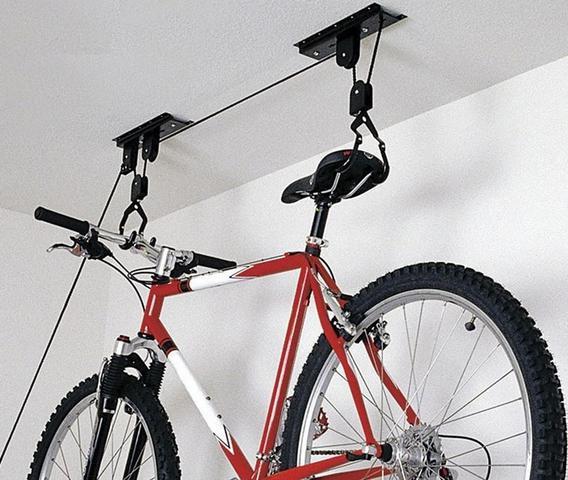 Imagem de Suporte Bicicleta Bike Ciclismo Para Teto Com Sistema De Elevação