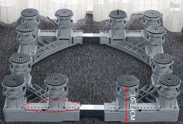 Imagem de Suporte c/12 pés p/Geladeira/Refrigerador,Máquina de Lavar,Lava e Seca,Brastemp,Electrolux,LG,Consul