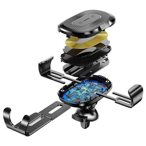 Imagem de Suporte Carregador Veicular Indução Wireless 10W Fast Charger para Carro Baseus Gravity Preto