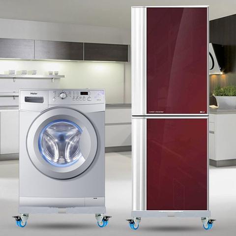 Imagem de Suporte,carrinho p/geladeira,refrigerador,lava e seca,máquina de lavar,45-65 cm/47-65 cm,PVC,300 kg