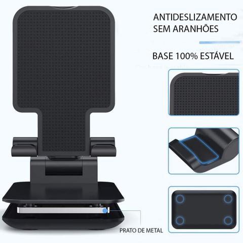Imagem de Suporte Celular Mesa Ajustável - Preto