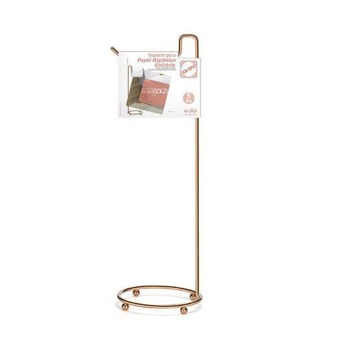 Imagem de Suporte Chão Papel Higiênico Unidade Premium Rose Gold Arthi Cobre