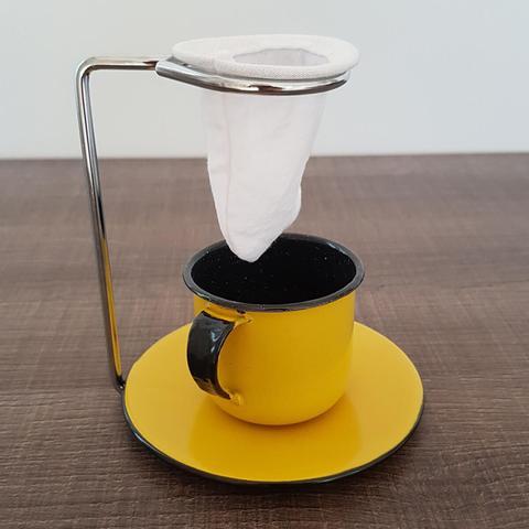 Imagem de Suporte Coador Para Café De Pano Mini Passador Individual
