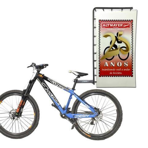 Imagem de Suporte De Banner Reforçado Para Bicicleta Preto Altmayer