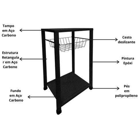 Imagem de Suporte de Bebedouro Chão Cozinha Filtro Galão 20 Litros Água Mineral Garrafão Filtro Fruteira Preto