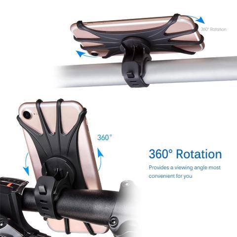 Imagem de Suporte De Bicicleta E Moto De Guidão 360 P/ Celular Gps - Preto
