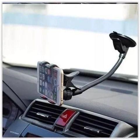 Imagem de Suporte De Celular Para Carro Automóvel Haste Longa Com Ventosa Universal